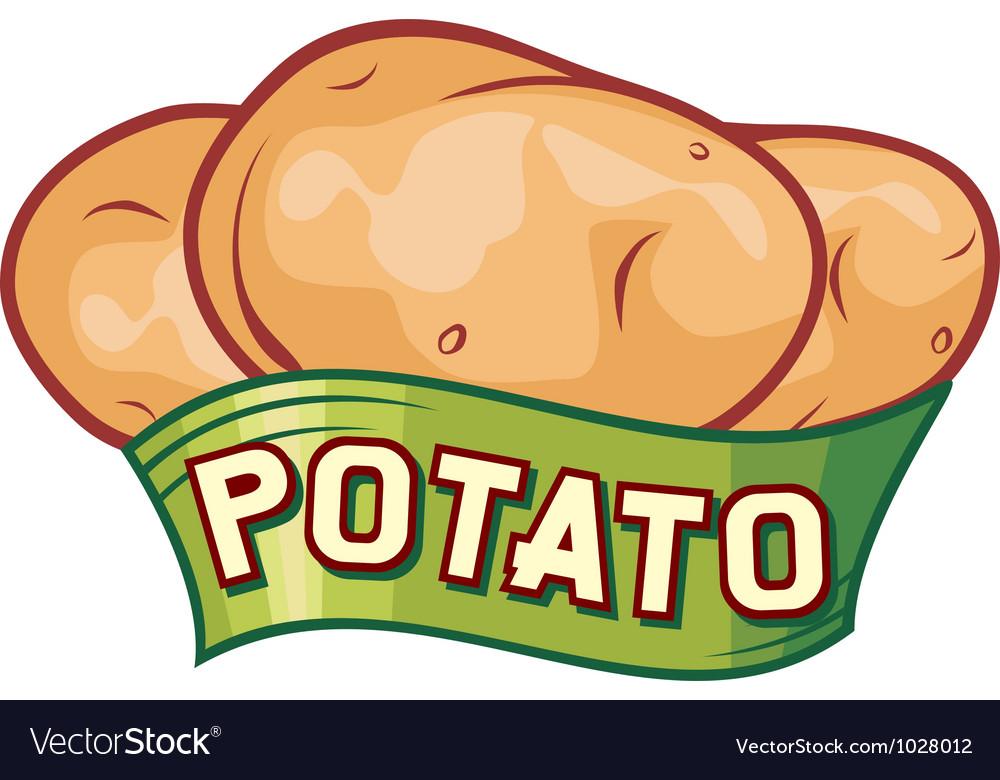 Potato label design vector | Price: 1 Credit (USD $1)