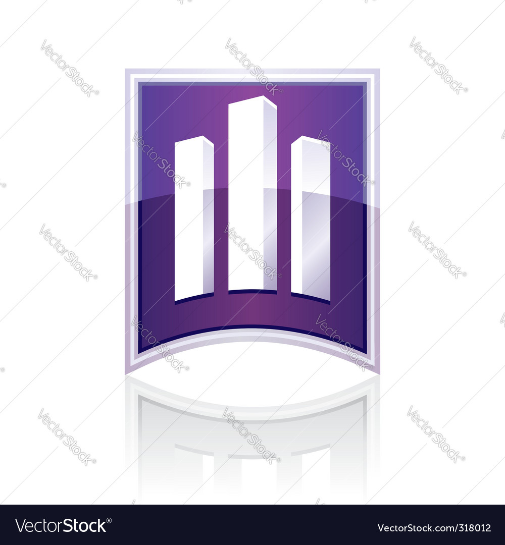 Sign towers building vector | Price: 1 Credit (USD $1)