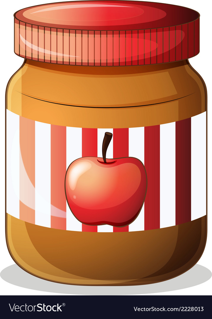 A bottle of apple jam vector | Price: 1 Credit (USD $1)