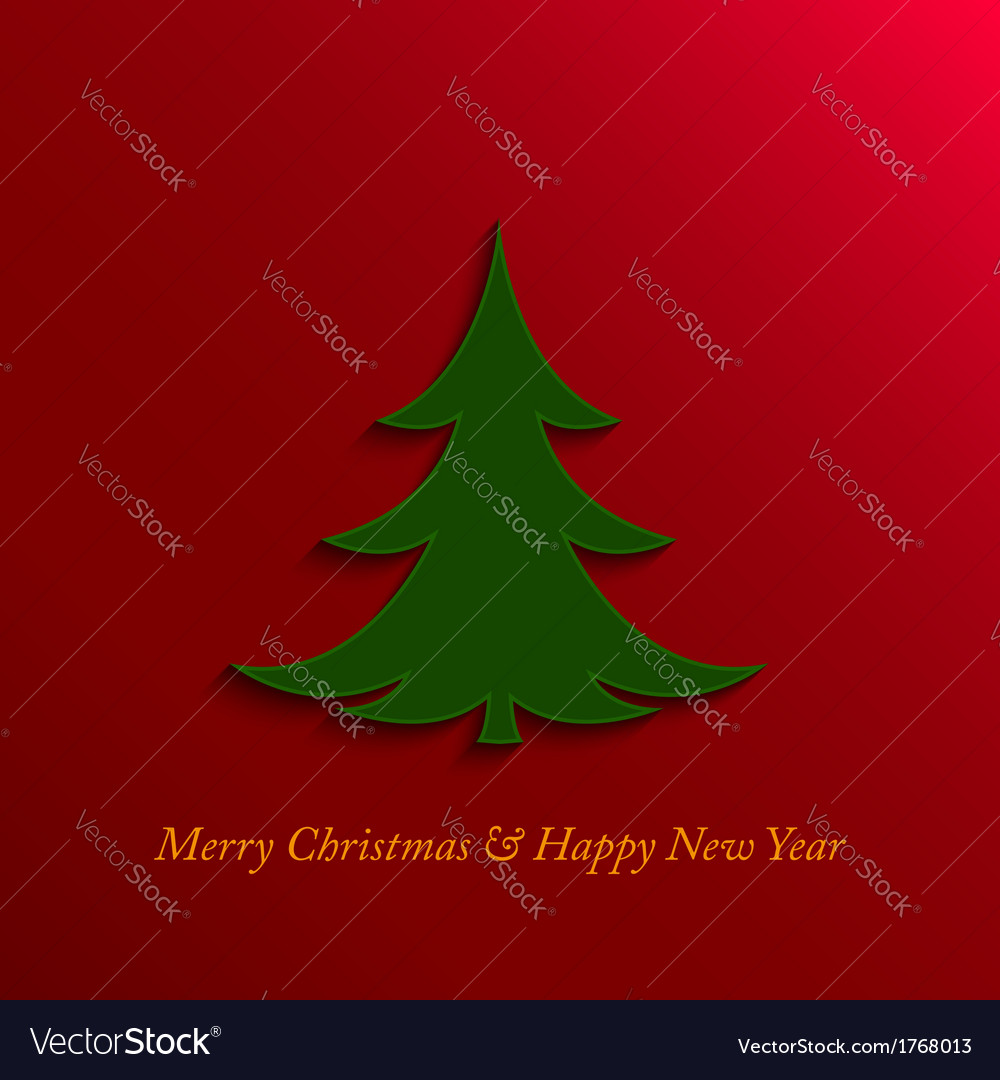 Christmas and new year tree vector | Price: 1 Credit (USD $1)