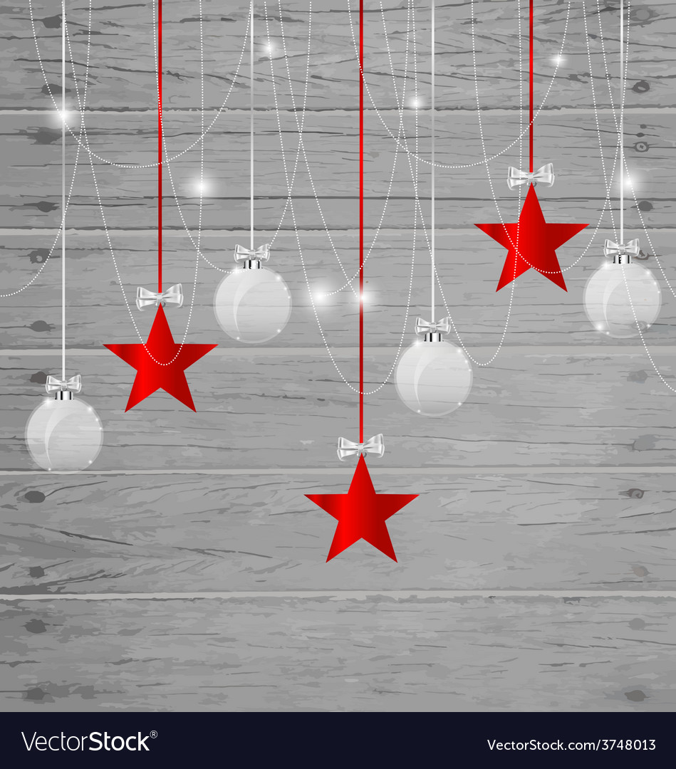 Christmas background with christmas decorations vector | Price: 1 Credit (USD $1)