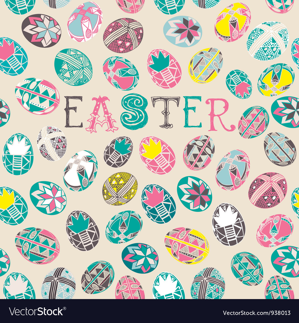 Doodle easter background pattern vector | Price: 1 Credit (USD $1)