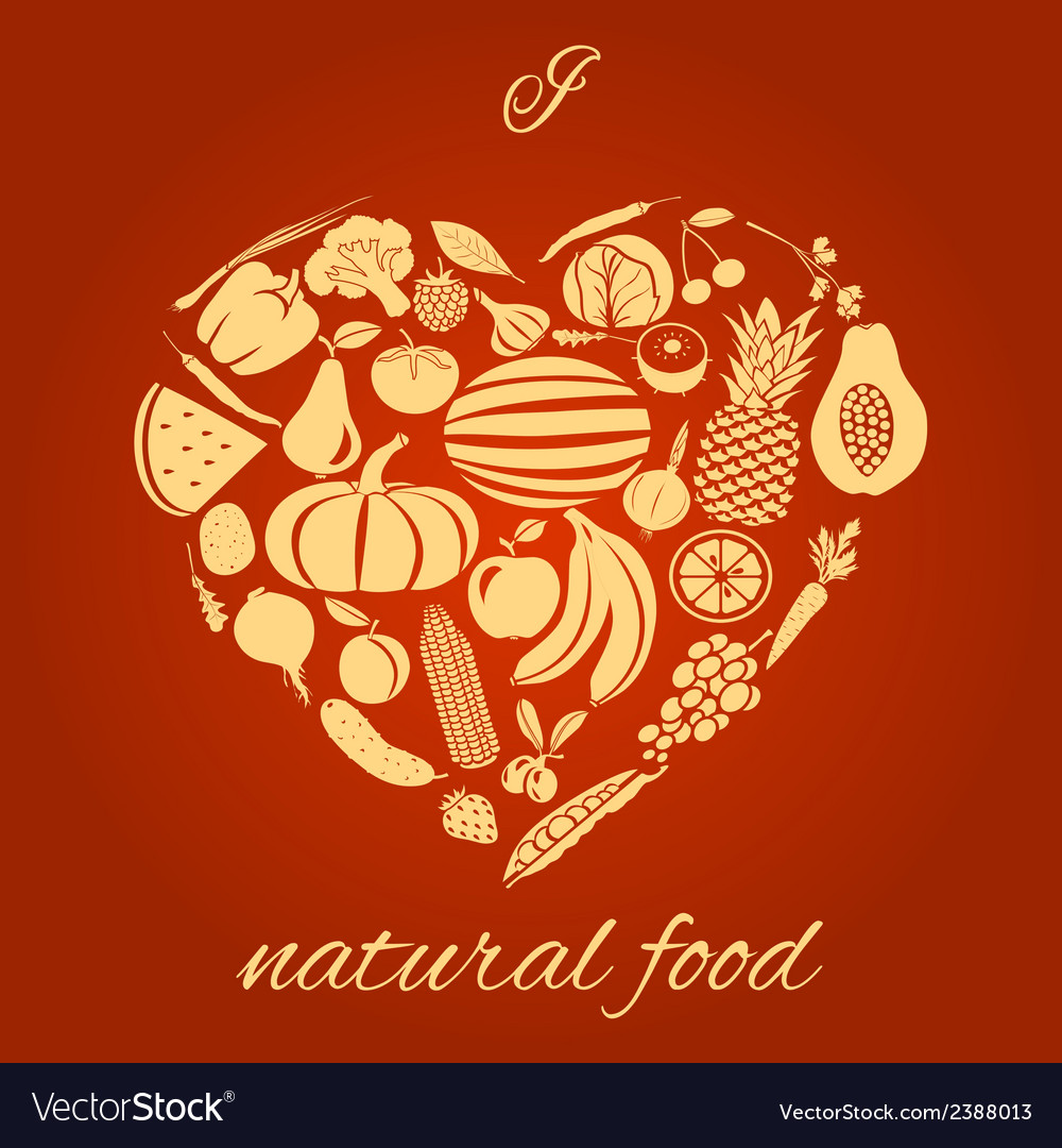 Natural food heart vector | Price: 1 Credit (USD $1)
