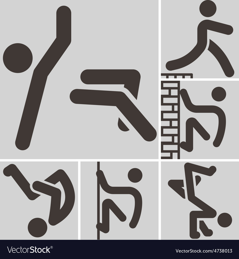 Parkour icon vector | Price: 1 Credit (USD $1)