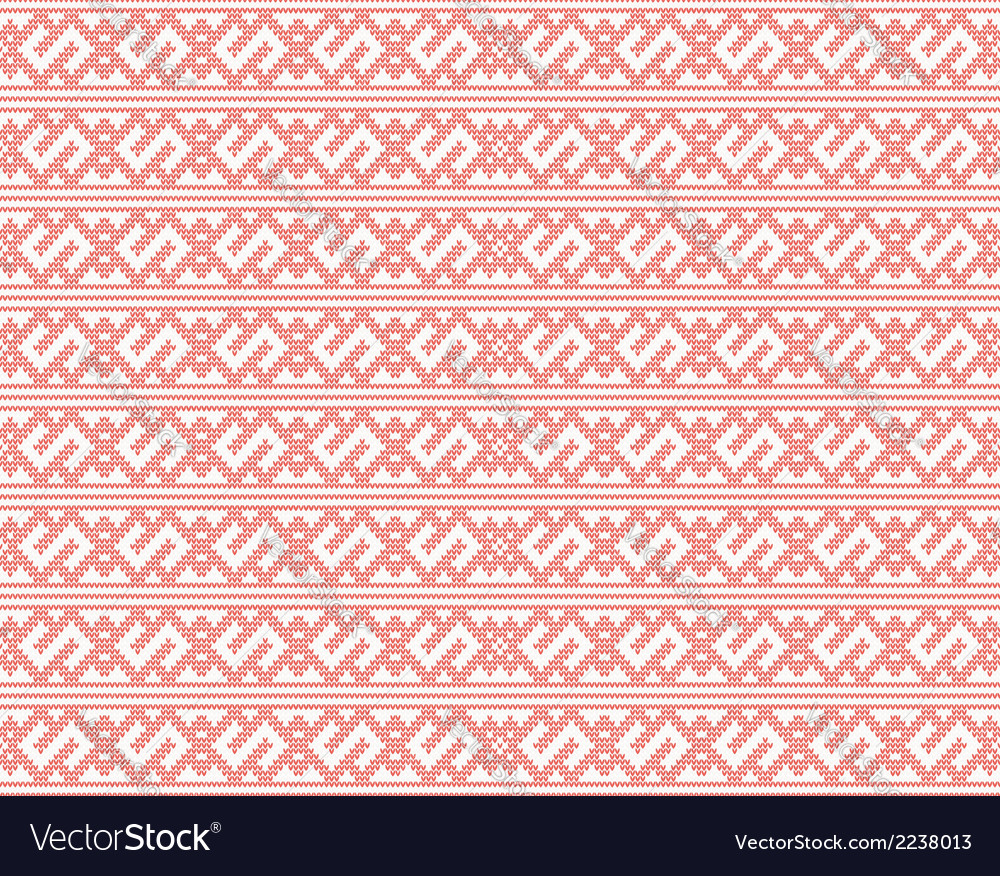 Seamless knitted pattern for christmas vector | Price: 1 Credit (USD $1)