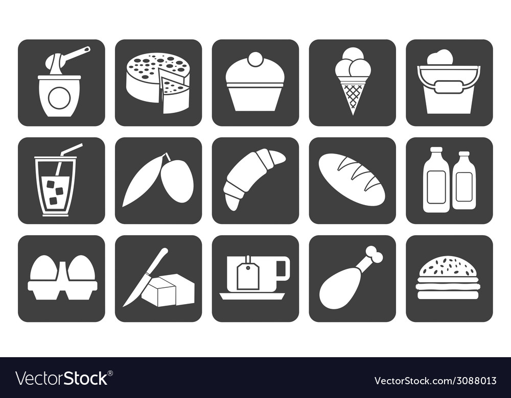 Silhouette dairy products vector | Price: 1 Credit (USD $1)
