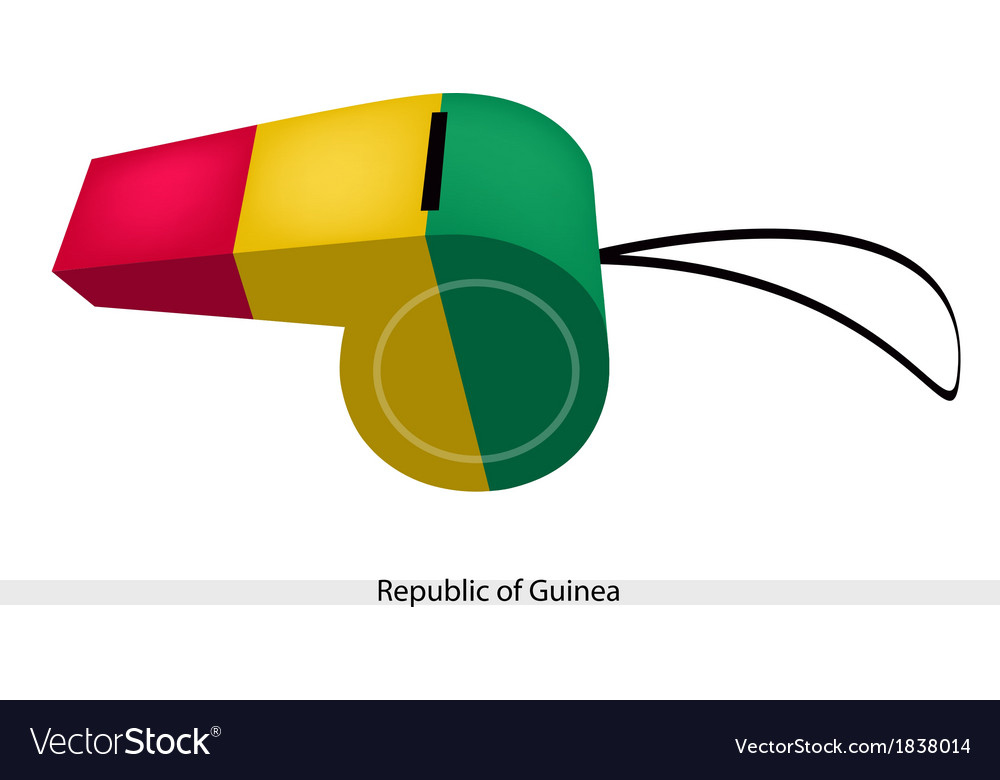 A whistle of the republic of guinea vector | Price: 1 Credit (USD $1)