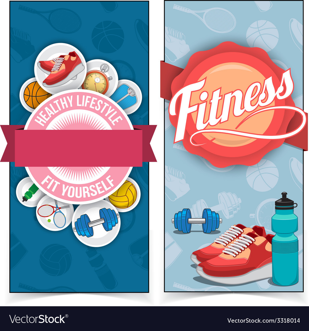 Active lifestyle banners vector | Price: 1 Credit (USD $1)