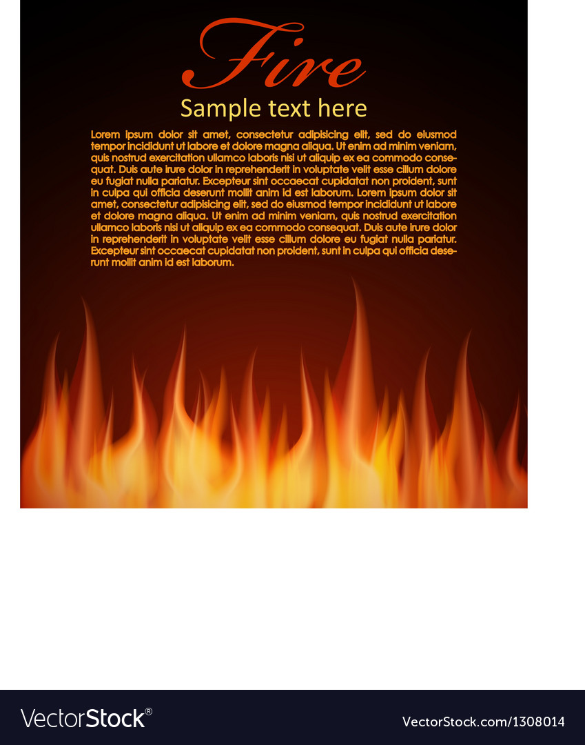 Fire background for your design vector | Price: 1 Credit (USD $1)