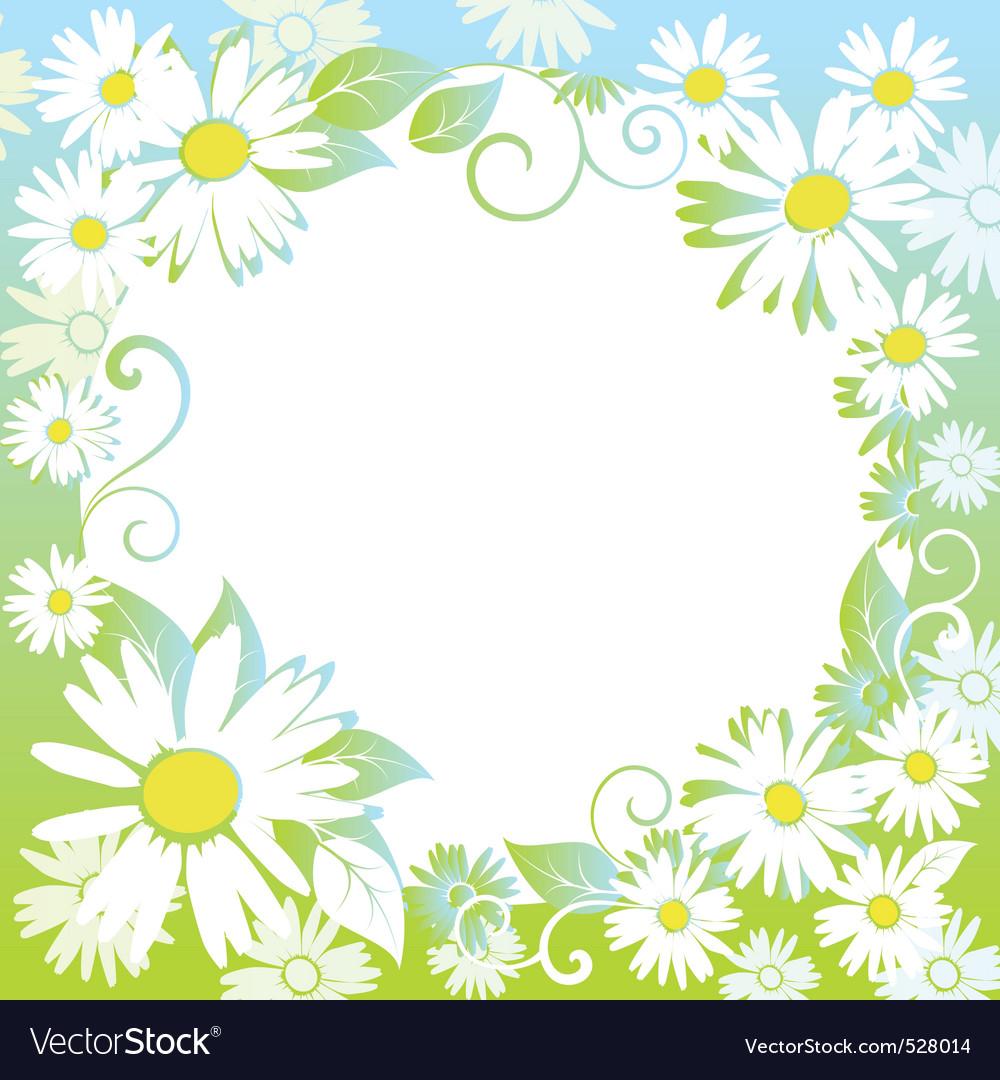 Funny spring floral border vector | Price: 1 Credit (USD $1)