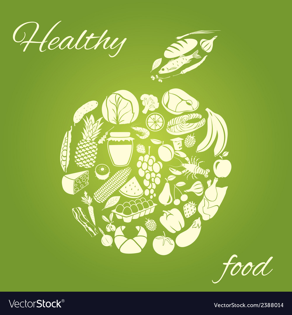 Healthy food apple vector | Price: 1 Credit (USD $1)