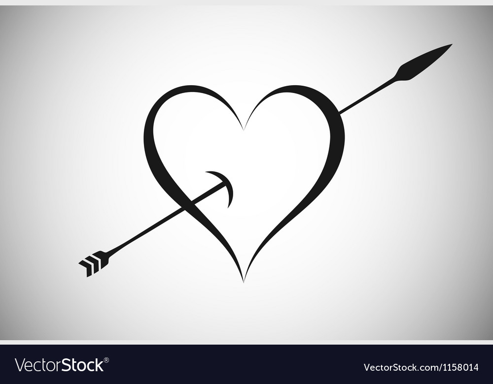 Heart with arrow vector | Price: 1 Credit (USD $1)