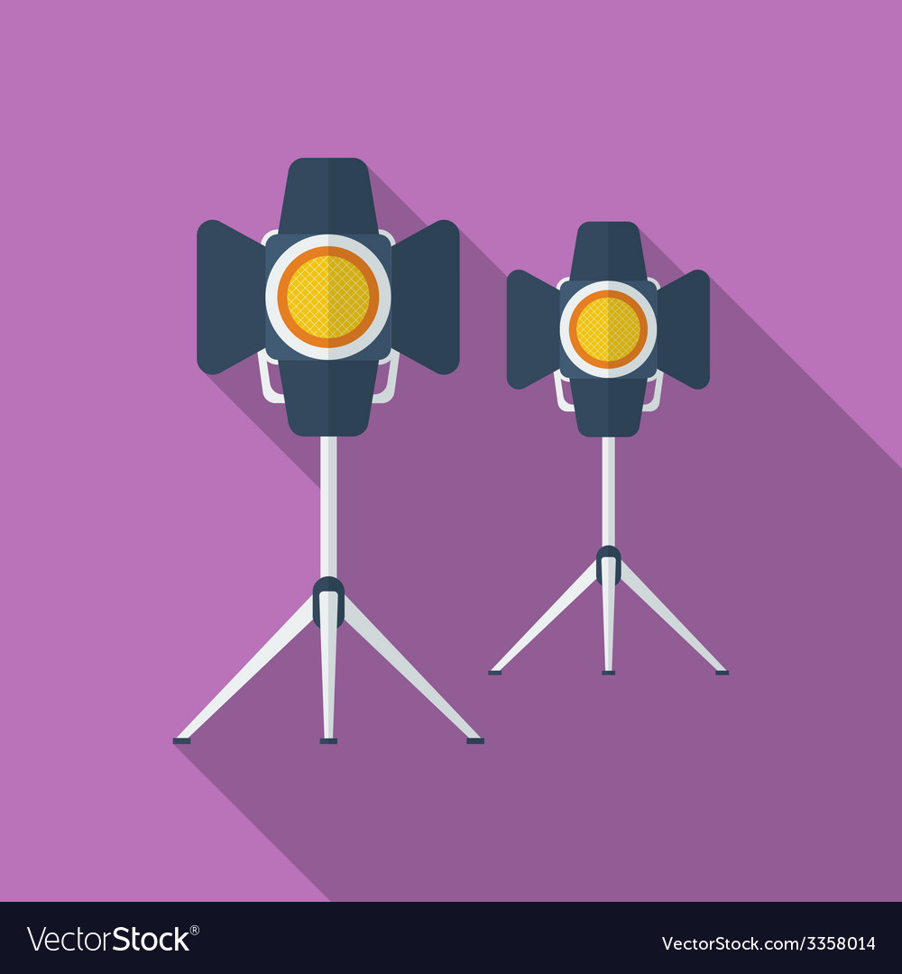 Icon of cinema lamp or lighter flat style vector | Price: 1 Credit (USD $1)