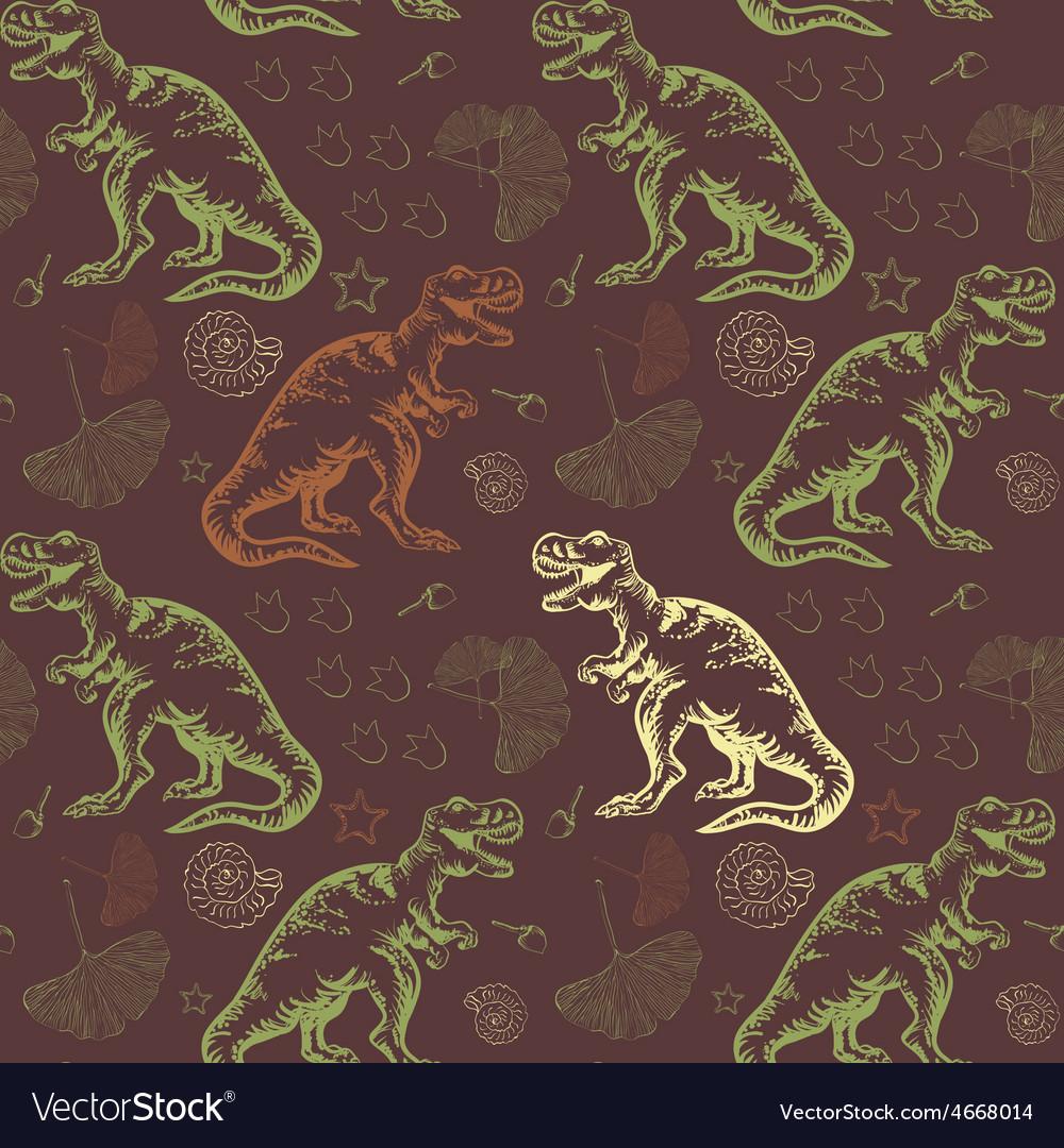 Jurassic tyrannosaurus rex seamless vector   Price: 1 Credit (USD $1)