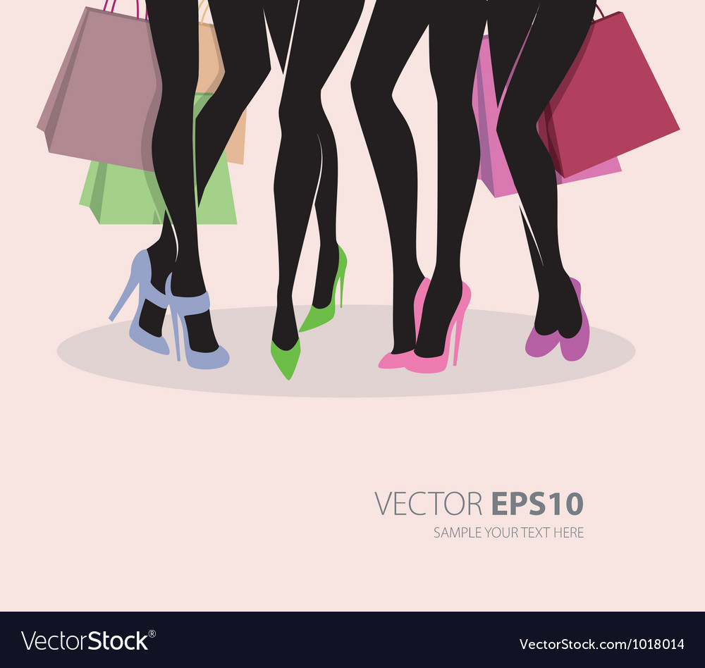 Legs shopping vector | Price: 1 Credit (USD $1)