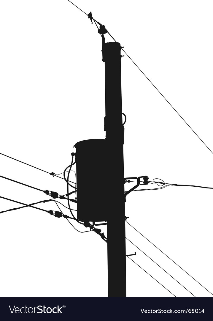 Power pole silhouette vector | Price: 1 Credit (USD $1)