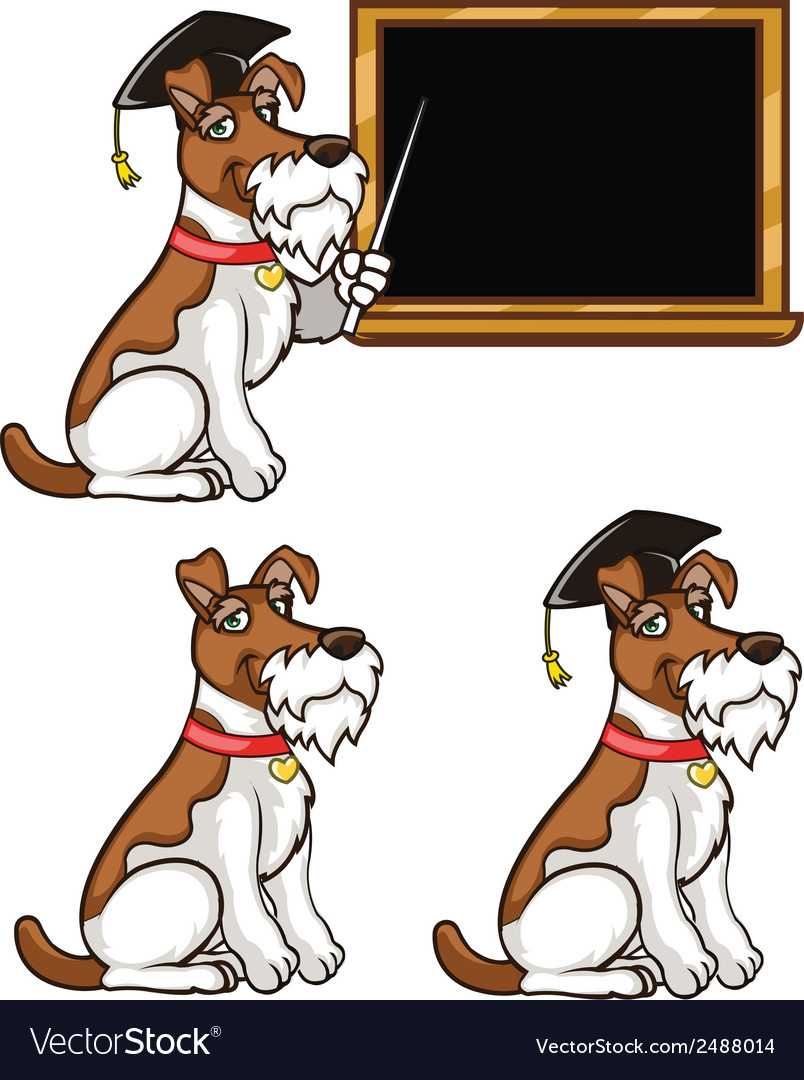 Smart dog vector | Price: 1 Credit (USD $1)