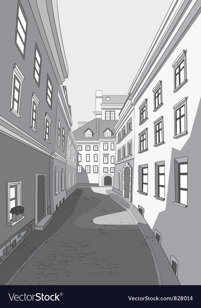 Street of city vector | Price: 1 Credit (USD $1)
