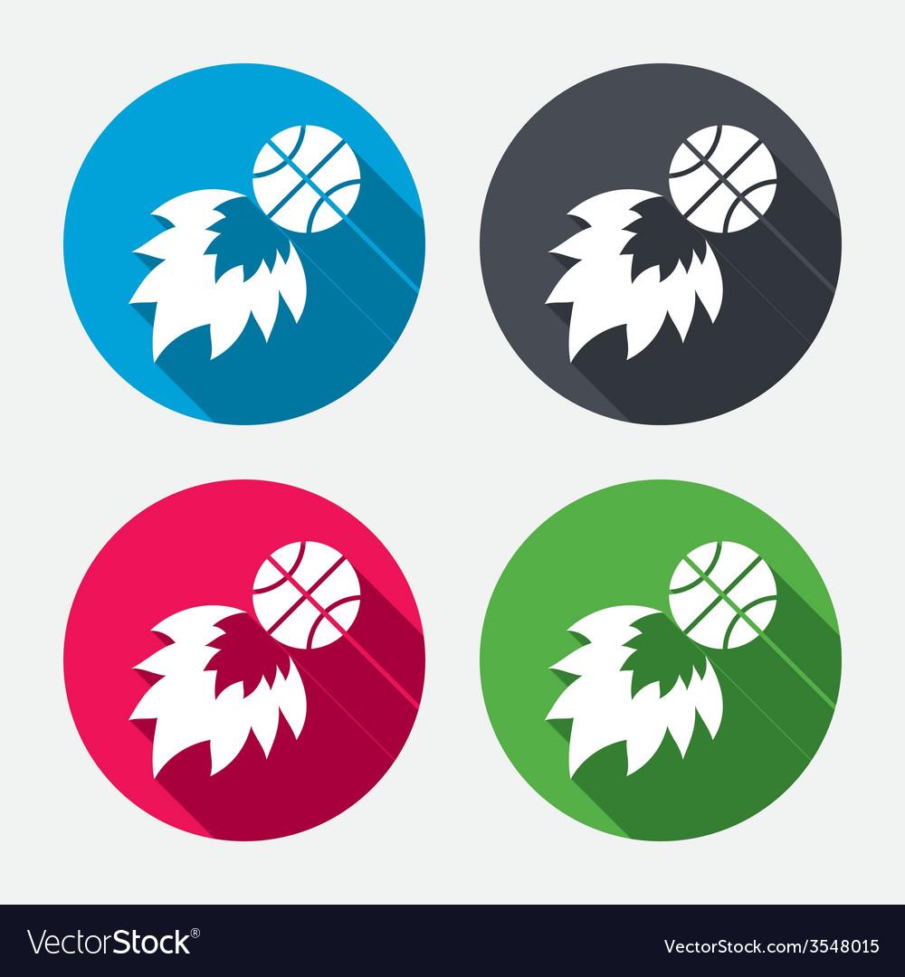 Basketball fireball sign icon sport symbol vector | Price: 1 Credit (USD $1)