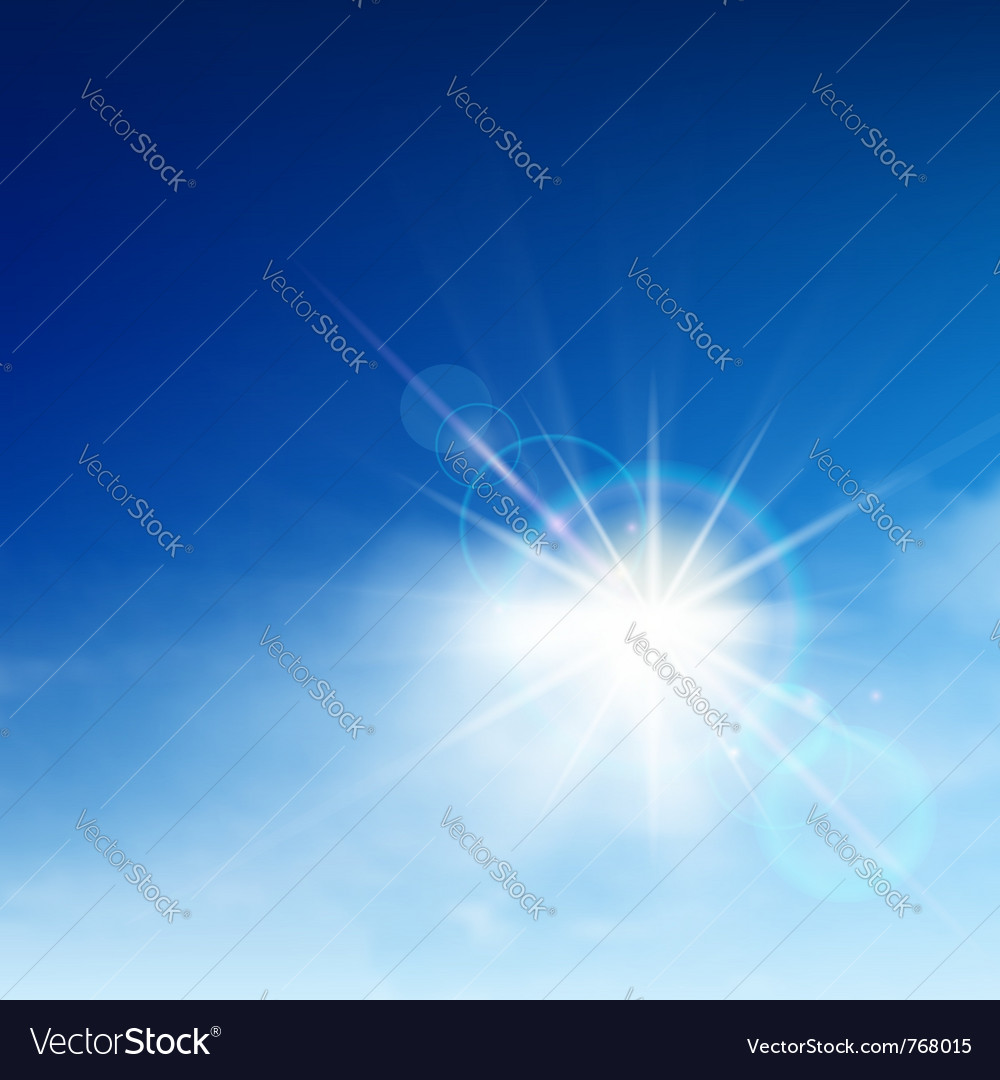 Bright blue sky vector | Price: 1 Credit (USD $1)