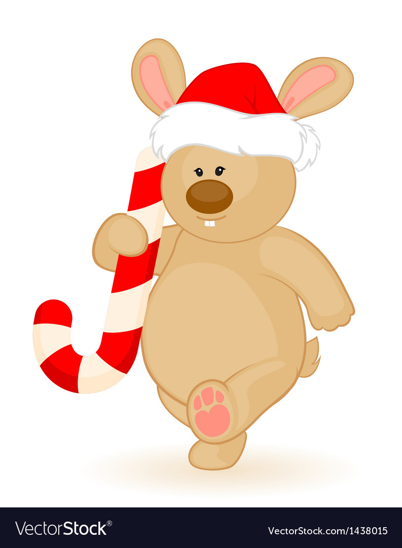 Christmas bear vector | Price: 1 Credit (USD $1)