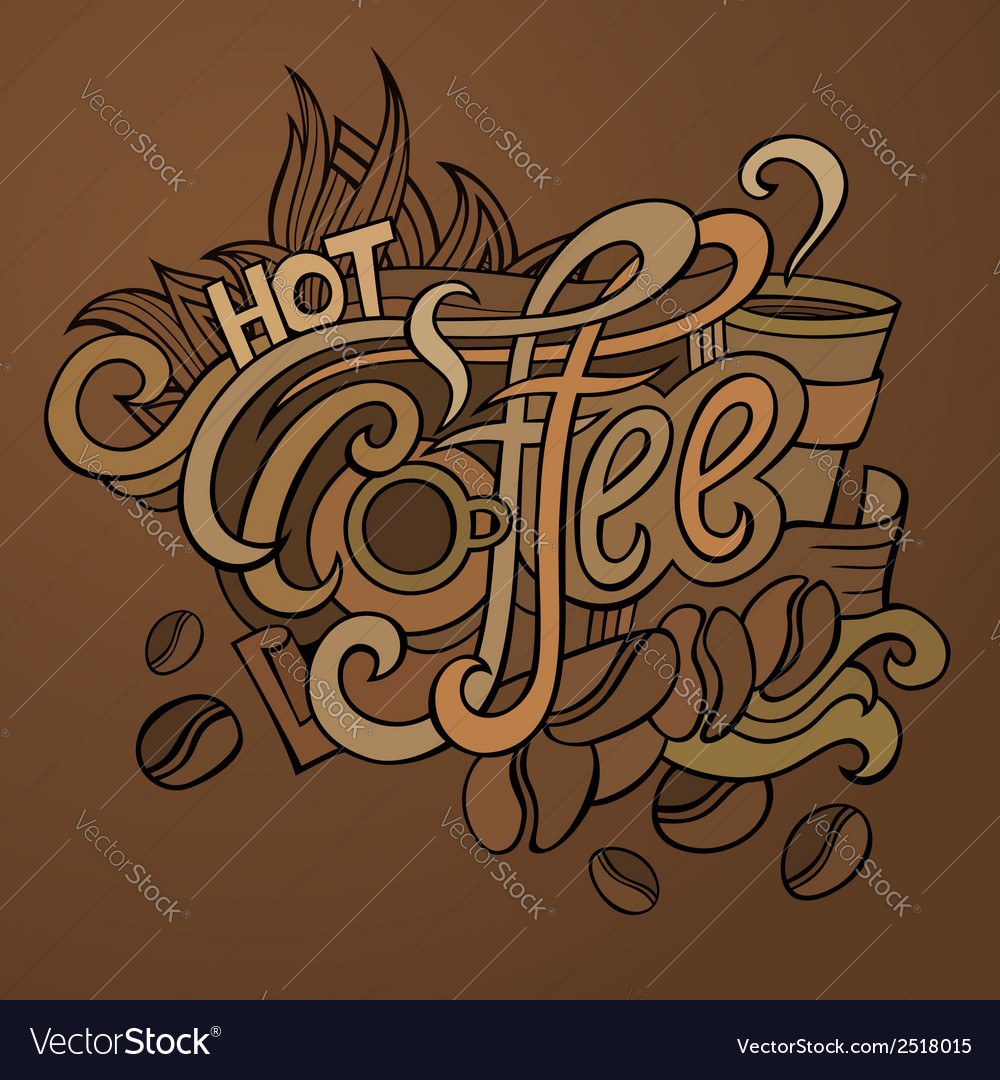 Coffee hand lettering vector   Price: 1 Credit (USD $1)