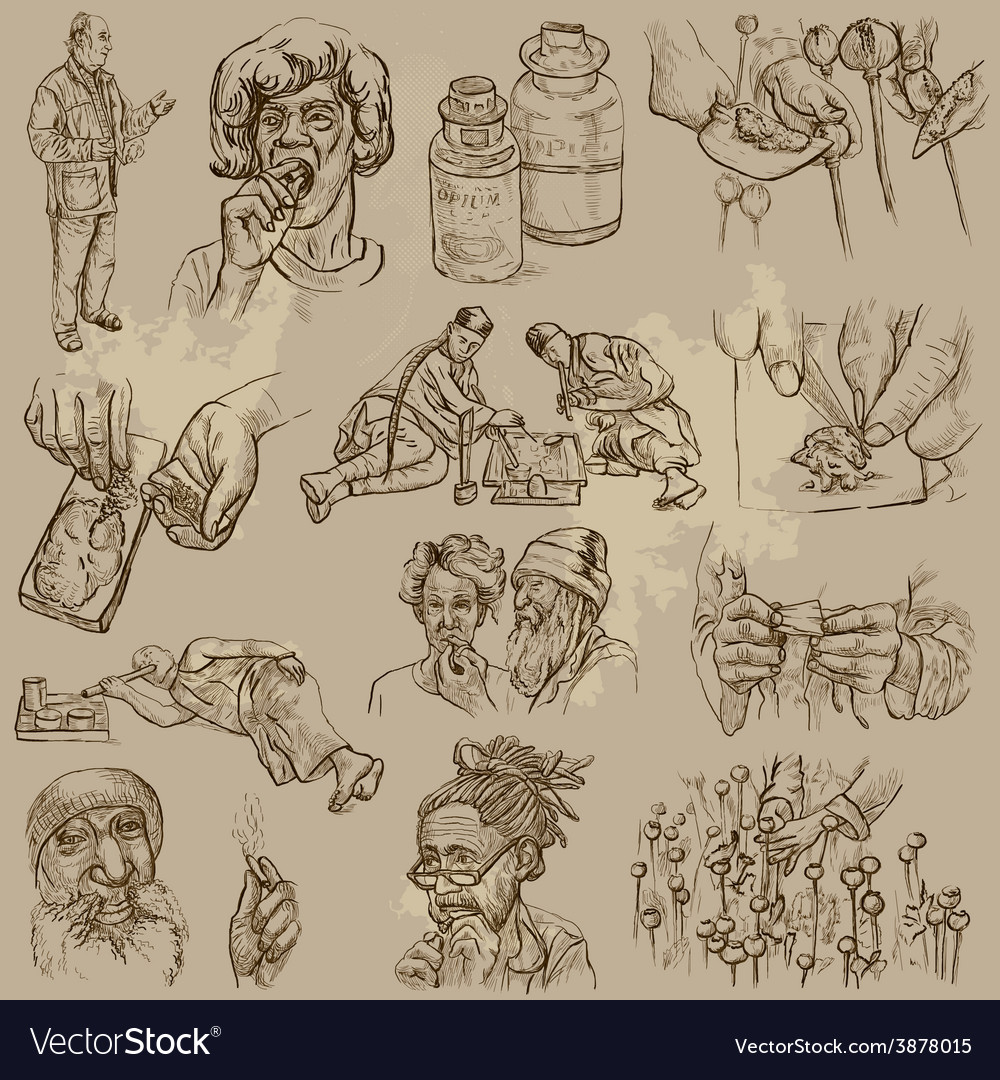 Drugs - hand drawn vector | Price: 1 Credit (USD $1)