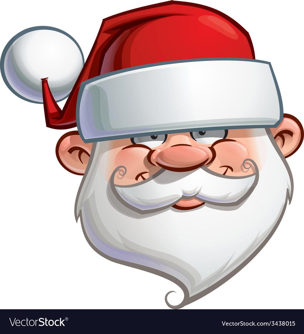 Happy santa head vector | Price: 3 Credit (USD $3)