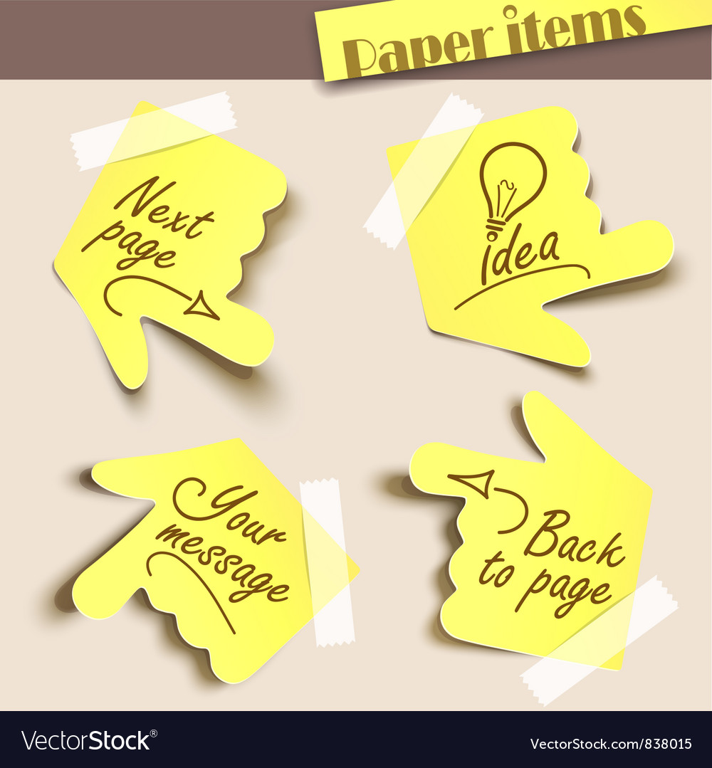 Note paper vector | Price: 3 Credit (USD $3)