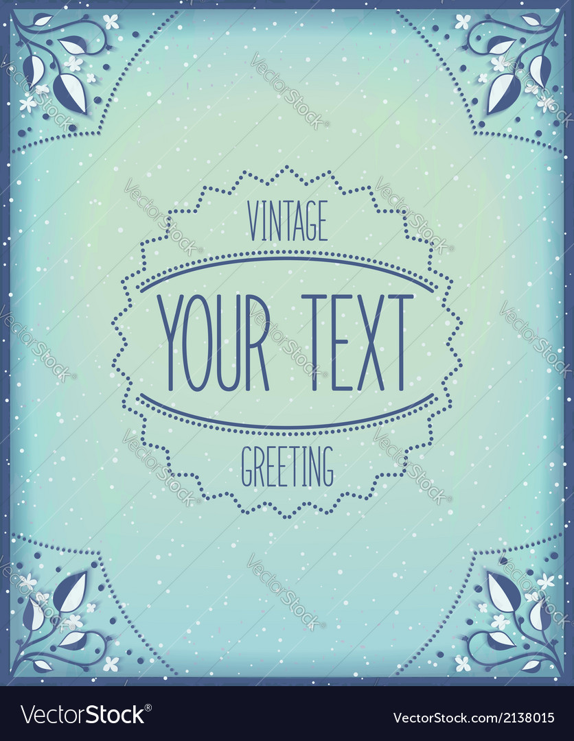 Retro frame template vector | Price: 1 Credit (USD $1)