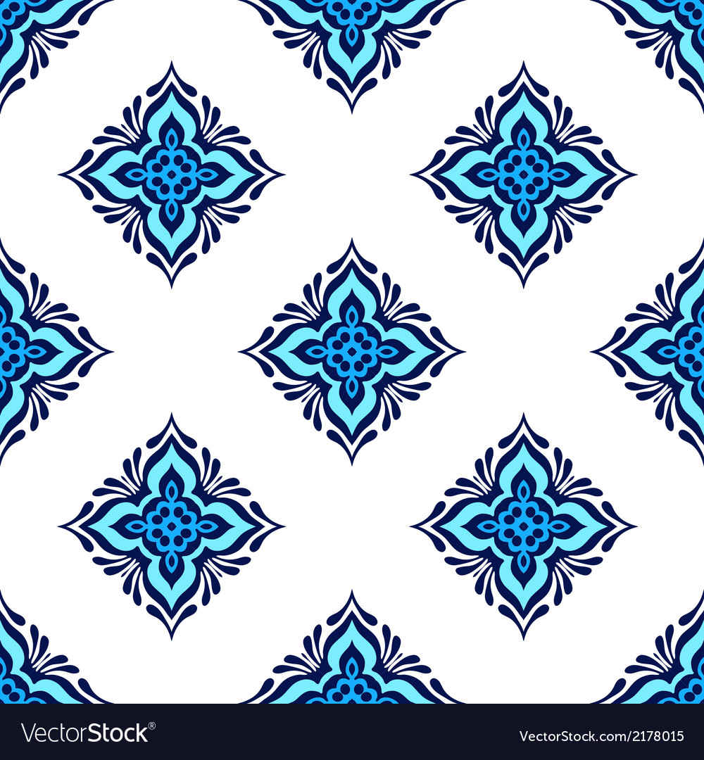 Seamless tiled pattern design vector | Price: 1 Credit (USD $1)