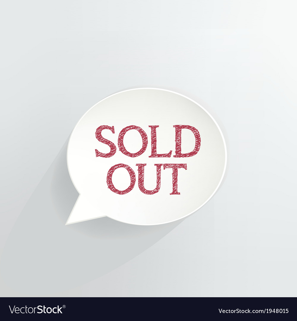 Sold out vector | Price: 1 Credit (USD $1)
