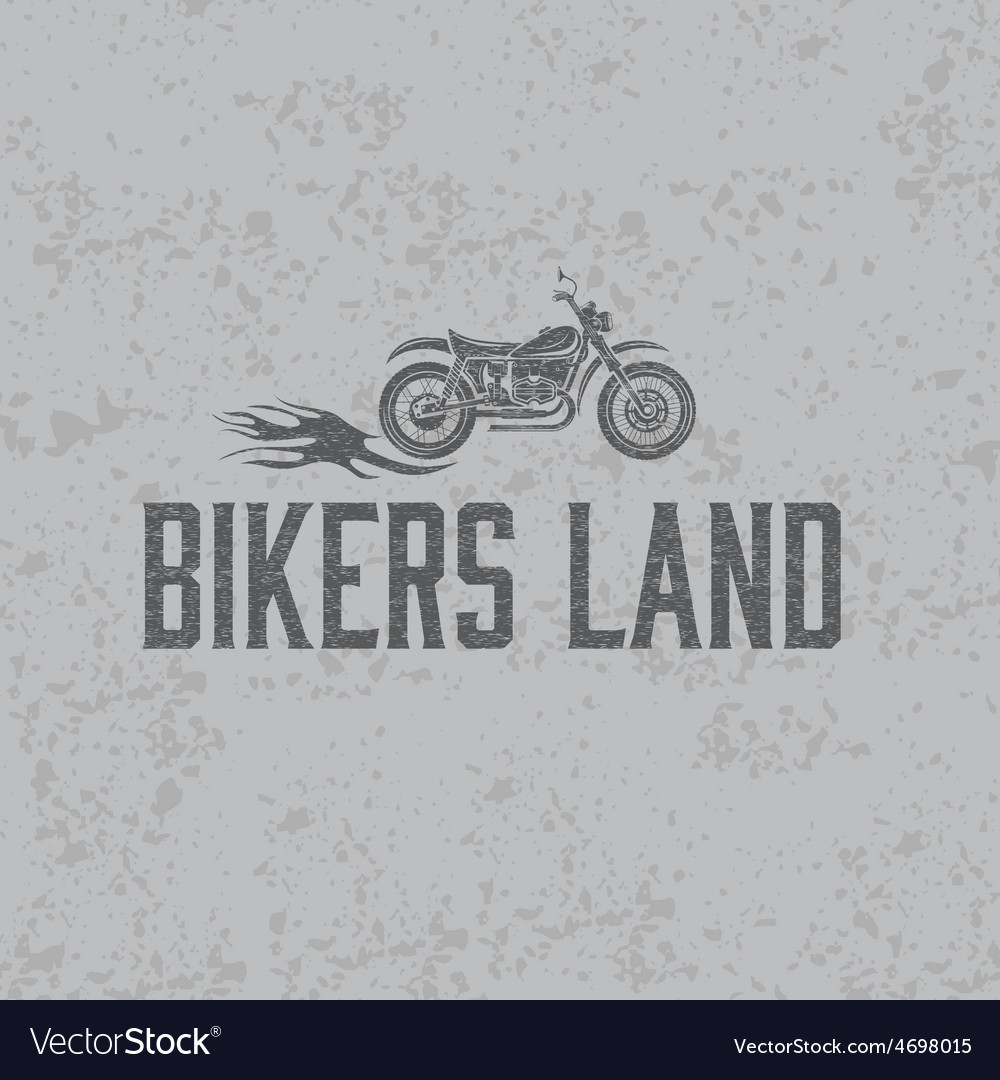 Vintage grunge motorcycle with flames graphic vector | Price: 1 Credit (USD $1)