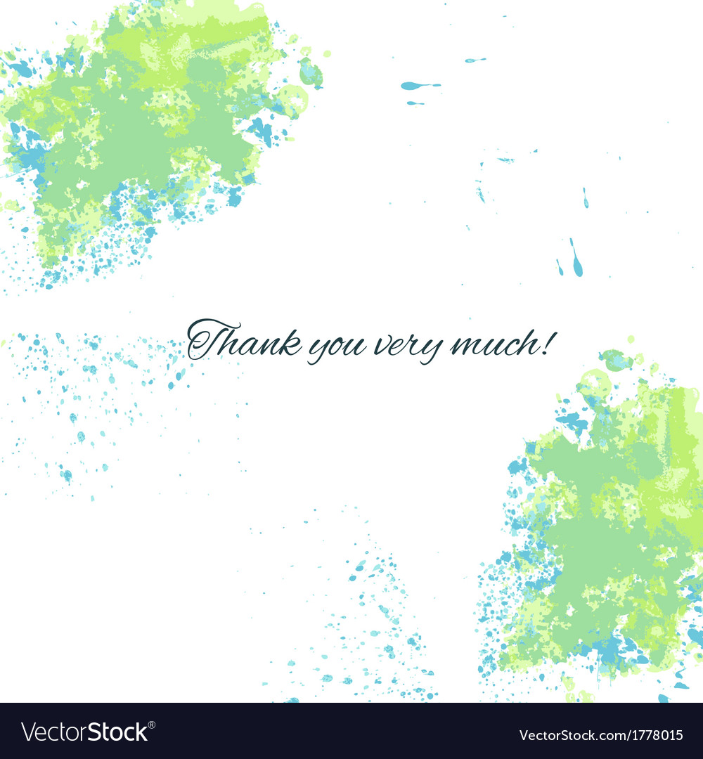 Watercolor blue-green background with thankful vector | Price: 1 Credit (USD $1)