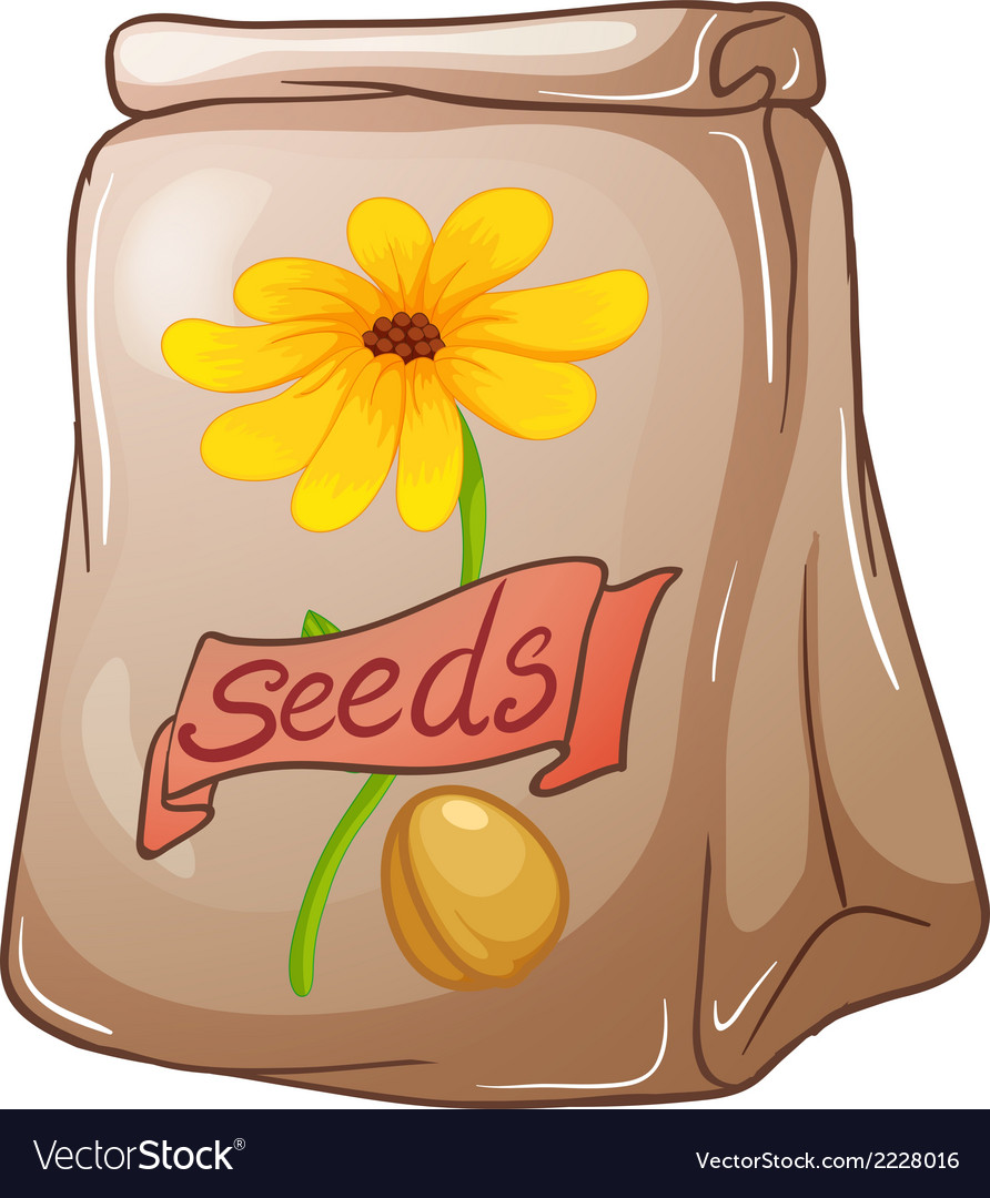A pack of sunflower seeds vector | Price: 1 Credit (USD $1)