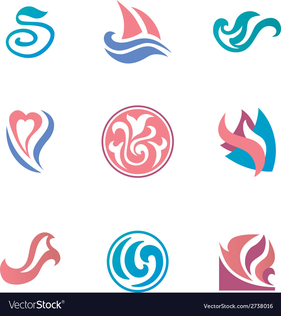 Abstract beauty icons for corporate identity vector | Price: 1 Credit (USD $1)
