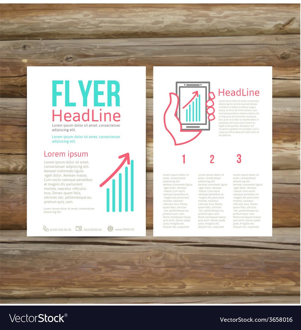 Abstract brochure flyer design success vector   Price: 1 Credit (USD $1)