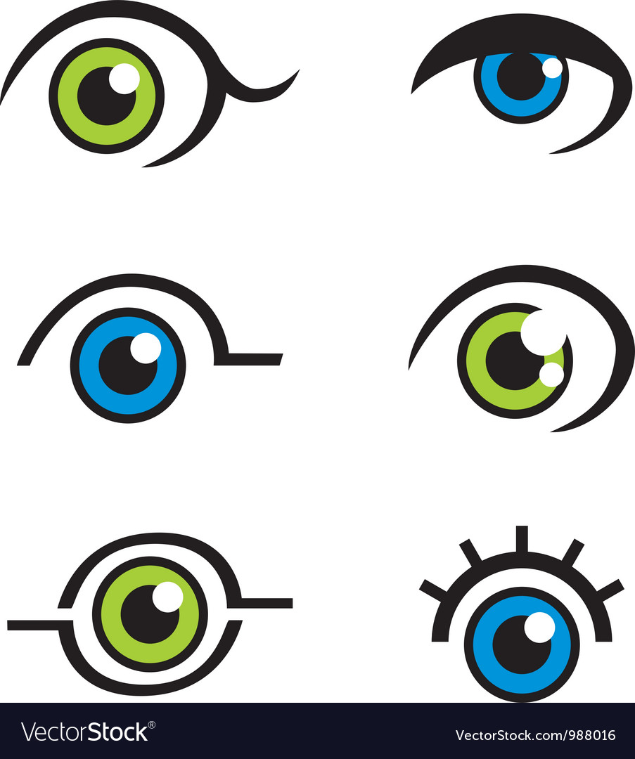 Eye icons logos vector | Price: 1 Credit (USD $1)