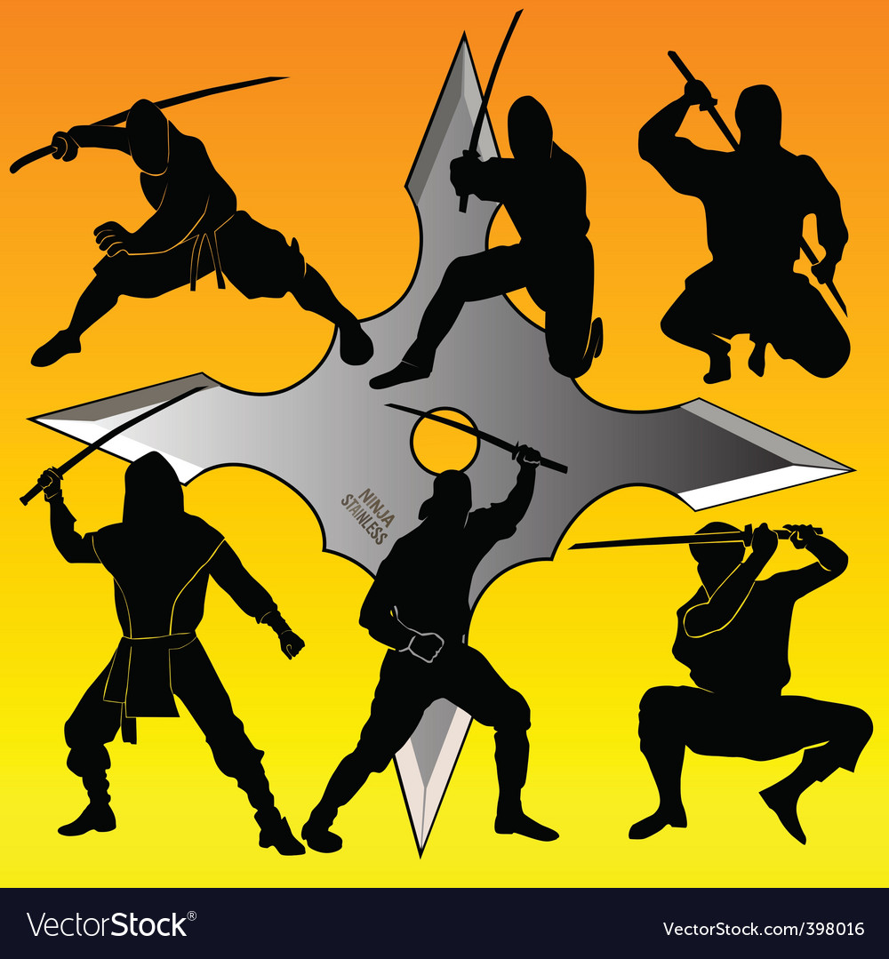 Group of ninja vector | Price: 1 Credit (USD $1)