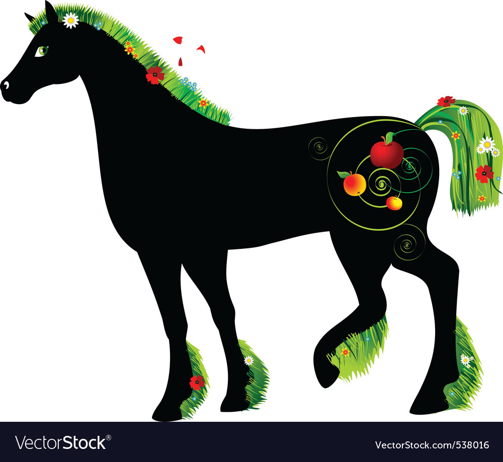 Horse summer vector | Price: 1 Credit (USD $1)