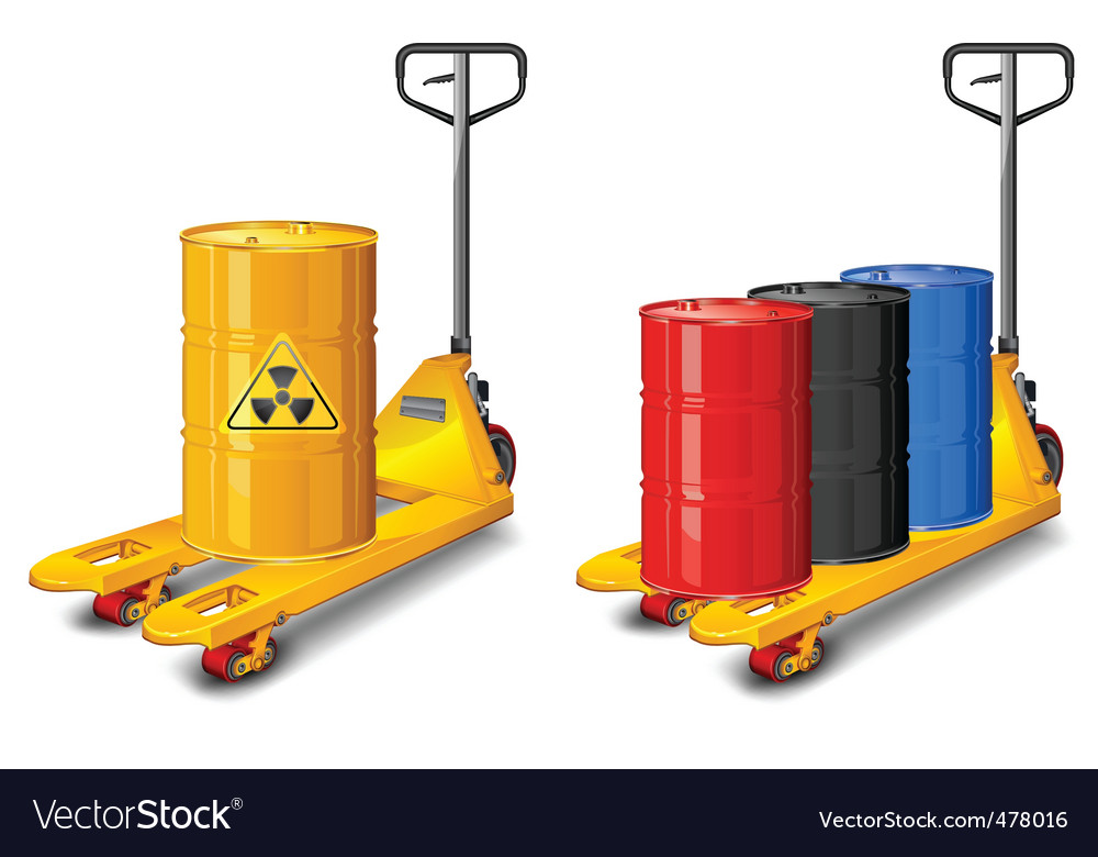 Truck with radioactive waste vector | Price: 1 Credit (USD $1)