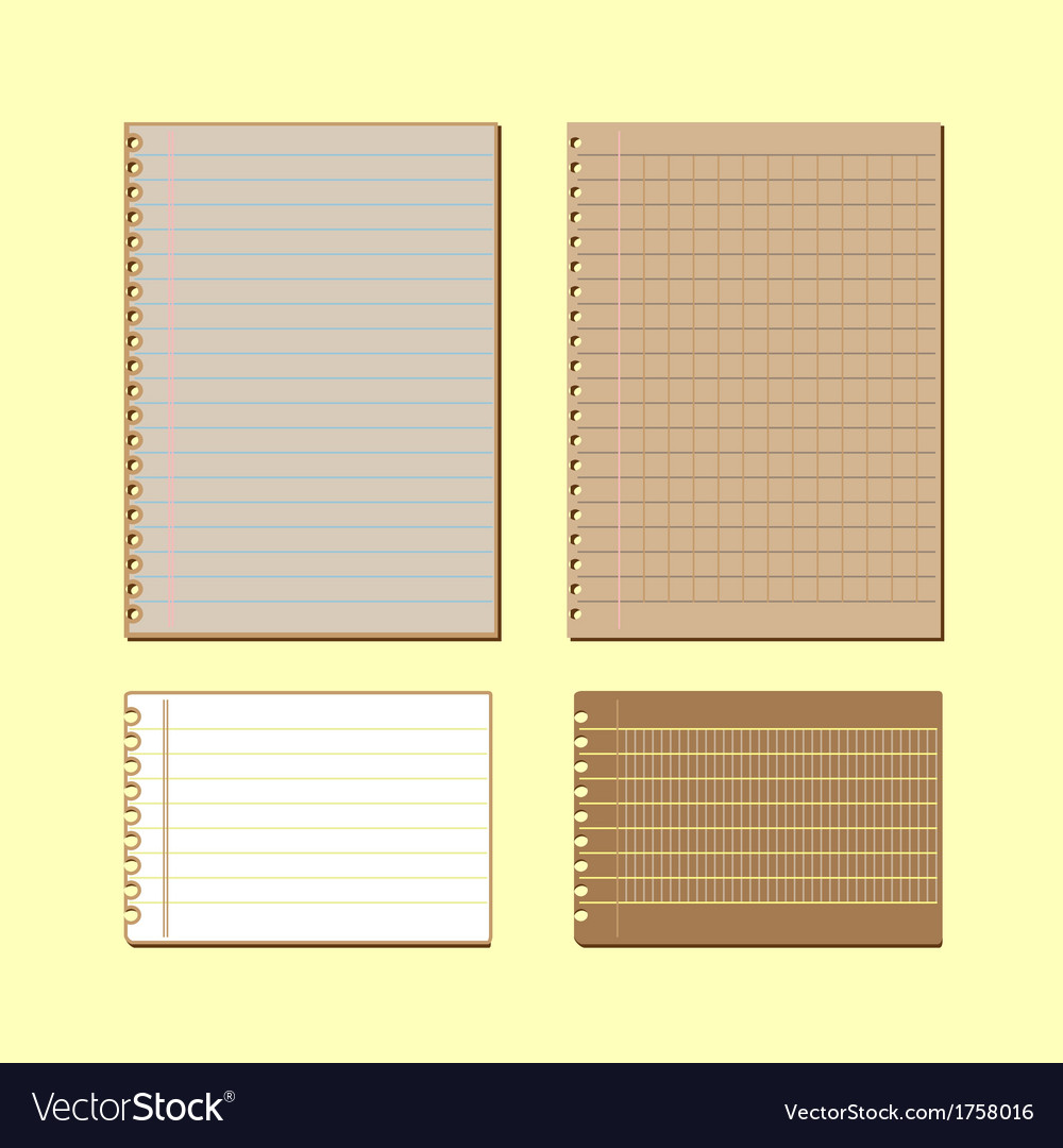 Vintage lined papers on yellow background vector | Price: 1 Credit (USD $1)