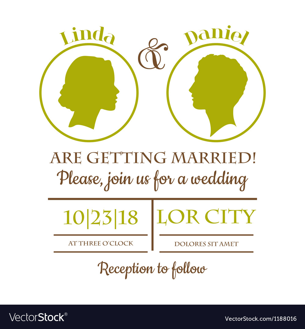 Wedding invitation card vector | Price: 1 Credit (USD $1)