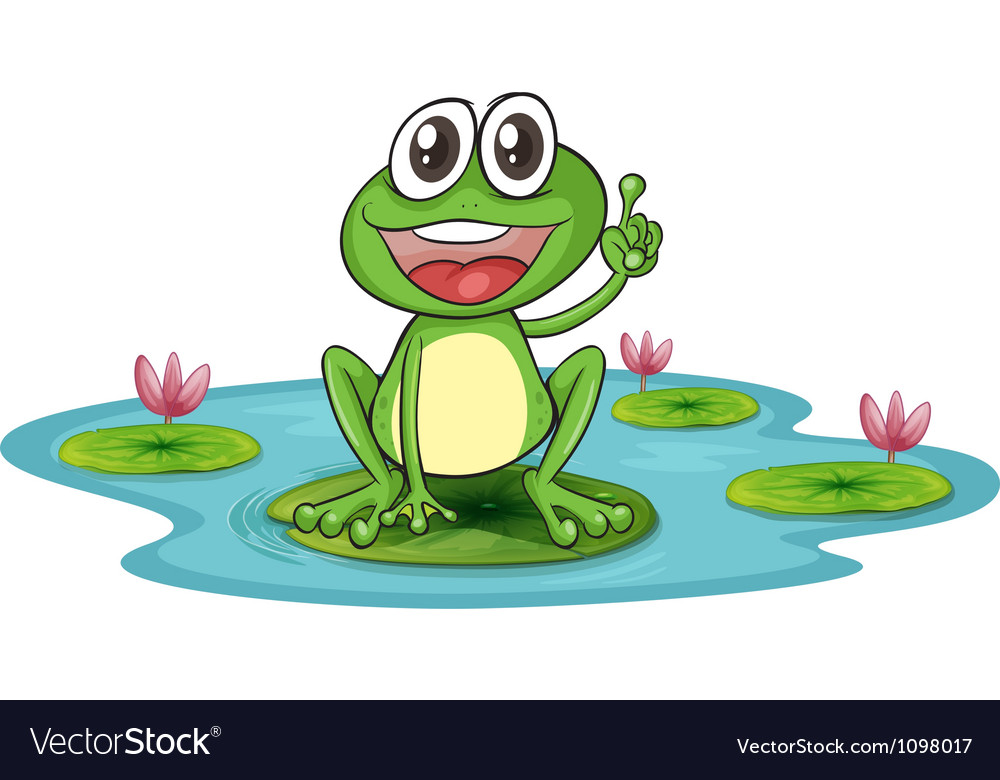 A frog and a water vector   Price: 1 Credit (USD $1)