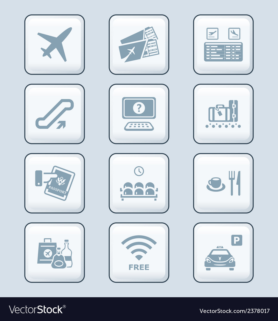 Airport icons - tech series vector | Price: 1 Credit (USD $1)