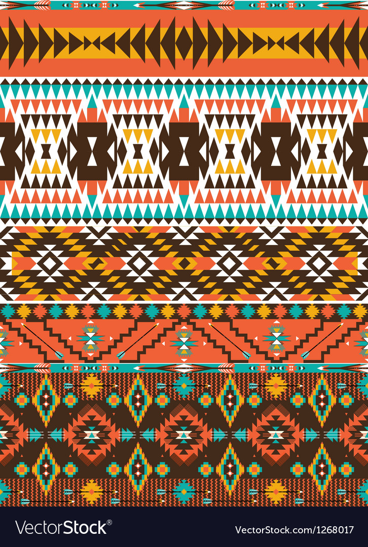Aztec colorful geometric seamless pattern vector | Price: 1 Credit (USD $1)