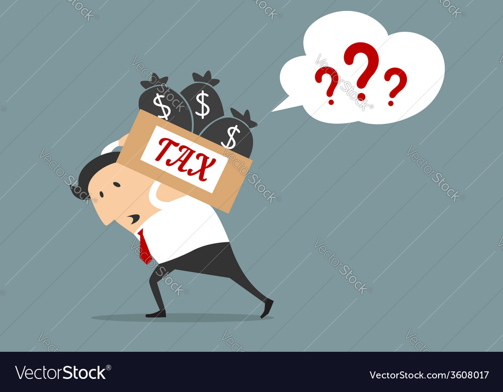 Businessman with tax box flat concept vector | Price: 1 Credit (USD $1)
