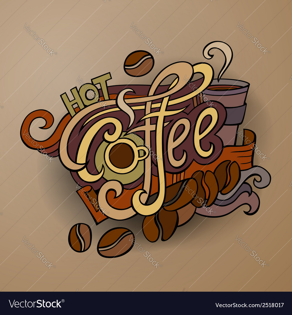 Coffee hand lettering vector | Price: 1 Credit (USD $1)