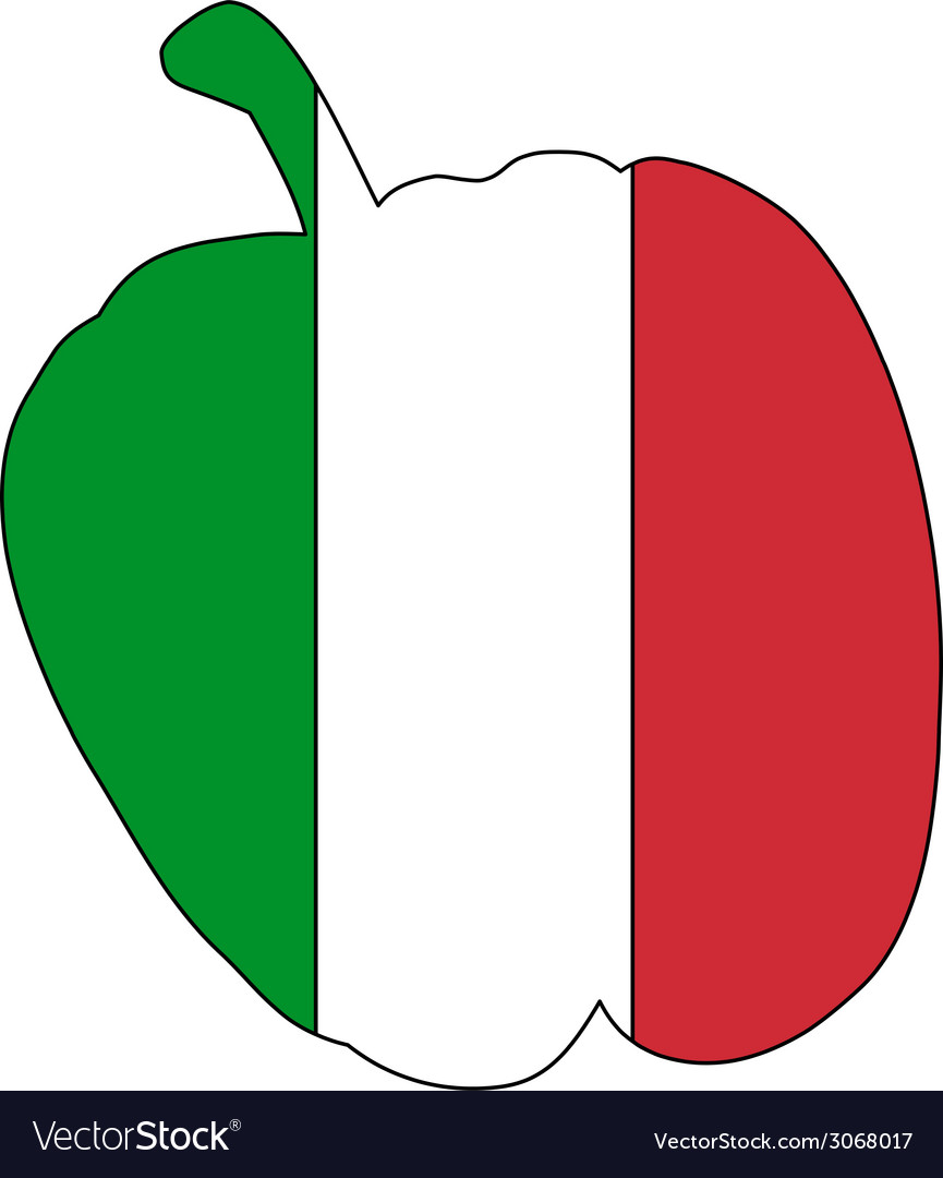 Italian pepper vector | Price: 1 Credit (USD $1)