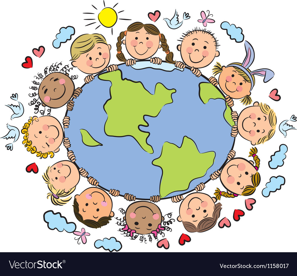 Kids of the earth vector | Price: 1 Credit (USD $1)